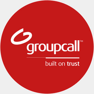 Image of the Groupcall logo, highlighting that we are built on trust.