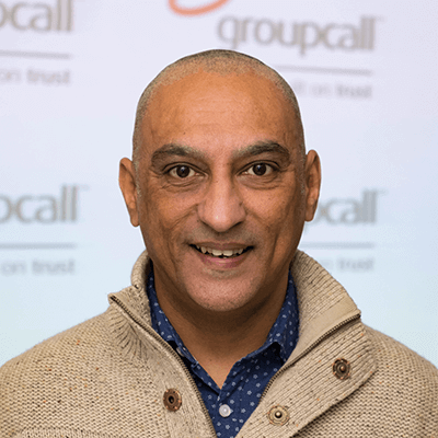 Groupcall's Head of Service Delivery - Major Atwal
