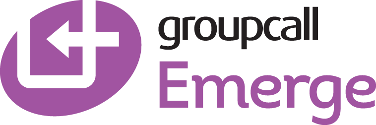 Groupcall Emerge logo, the complete school management system for teachers, enabling quick and easy access to data, as well as useful admin tools – and all with complete connectivity to your school's MIS